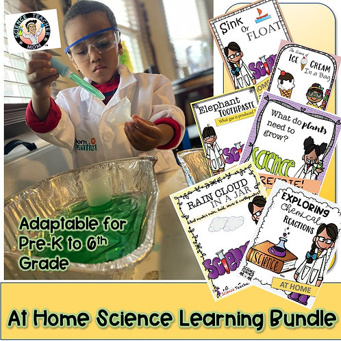 At Home Science Distance Learning Bundle