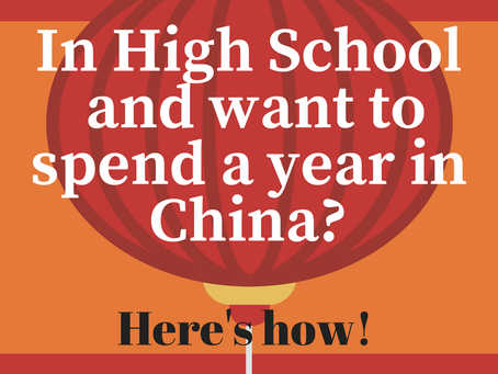 How a New York High School student spent the entire school year in China!