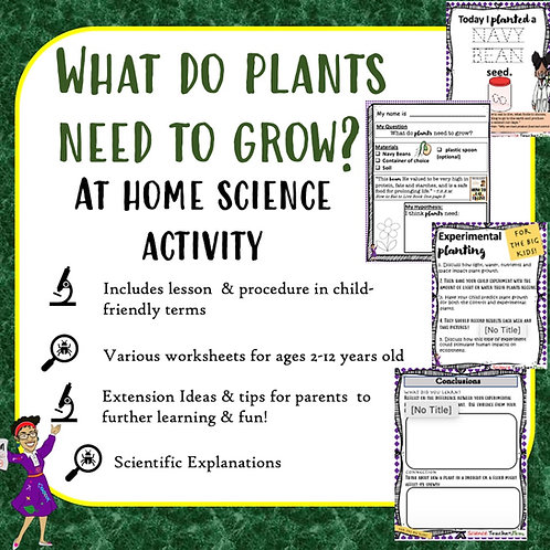 What do plant need to grow?