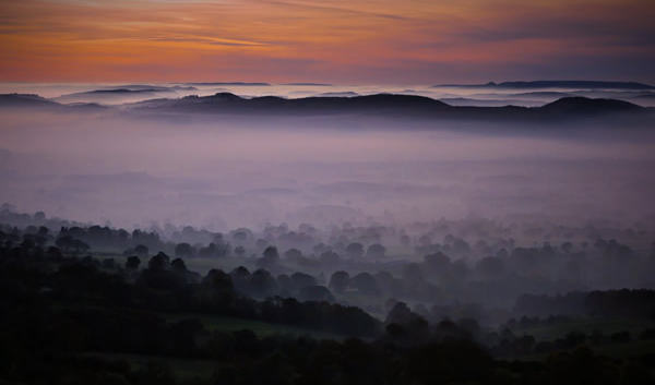 (c) Philip Lea: Dusk view, Clee Hill Shropshire (highly commended)