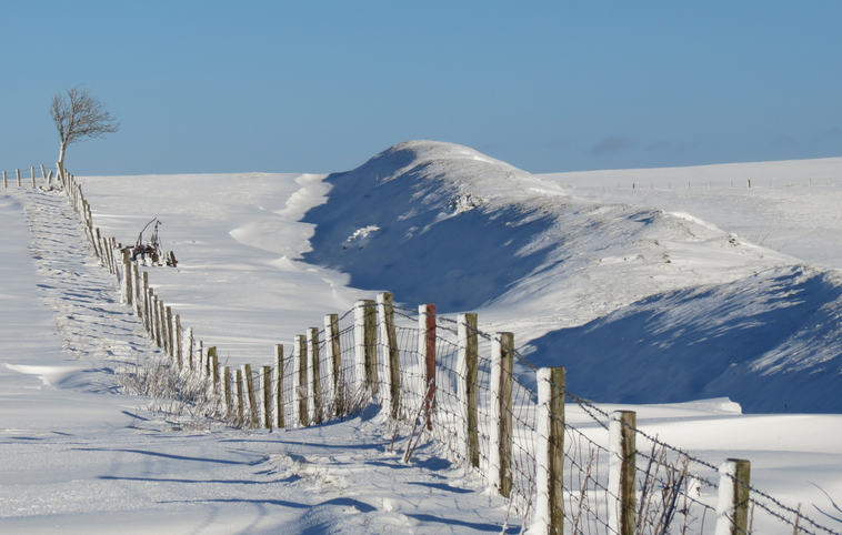 (c) Janet Lewis: Offa's Dyke in Snow (joint runner up)