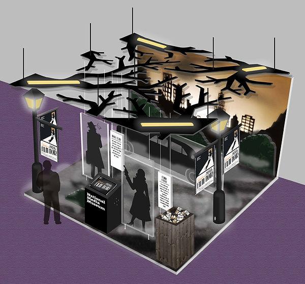 Film Noir Exhibition Stand Design