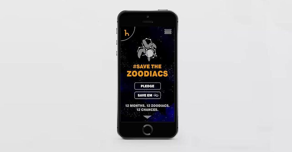 Save the Zoodiacs UI/UX Design
