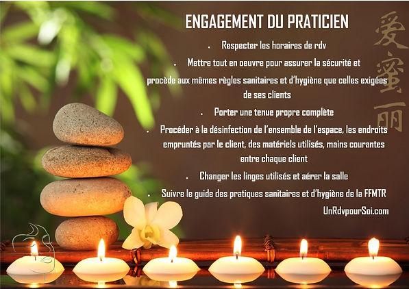 COVID 19 : Engagement du praticien
