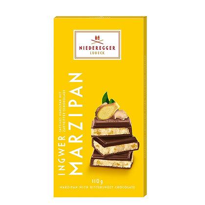 נידרגר – שוקולד מריר מרציפן עם ג'ינג'ר 110 גרם