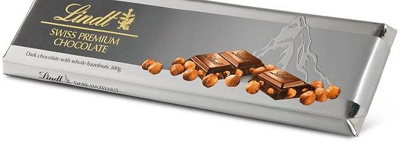 לינדט שוקולד מריר עם אגוזי לוז