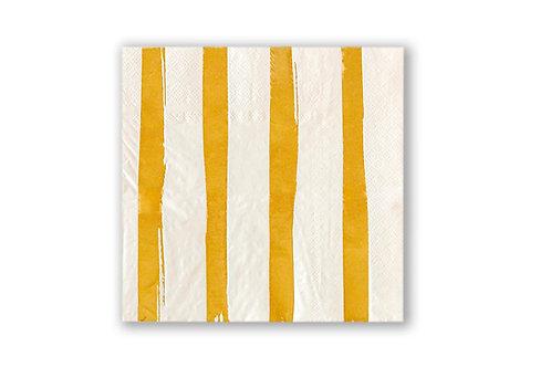 מפיות מעוצבות פסים זהב לבן