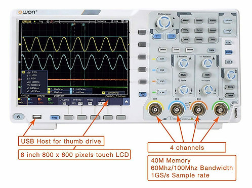 XDS3064AE 60MHz 4 Channel 1GS/s Oscilloscope