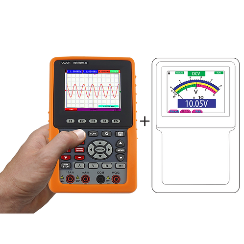 HDS2061M-N 1 Channel Handheld Oscilloscope & Multimeter 60MHz 500MS/s