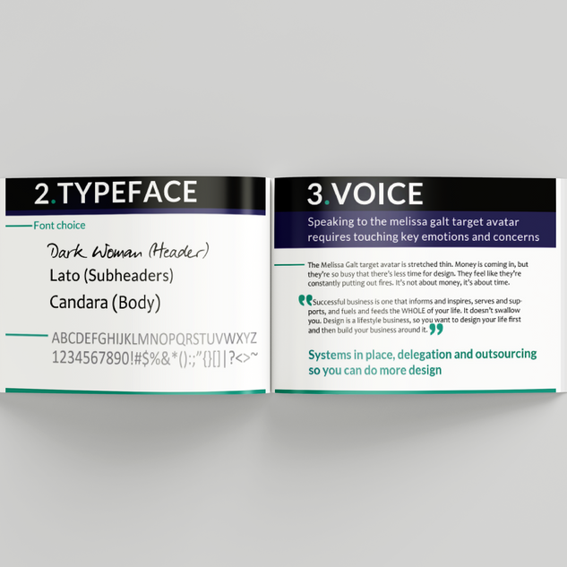 Branding guide - font and voice