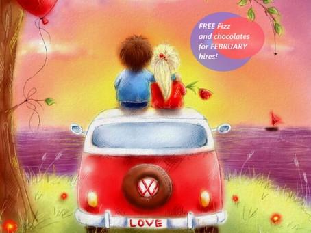Renting a VW Campervan for Valentines