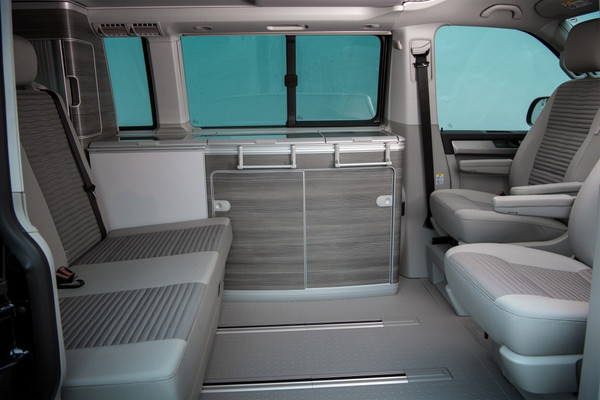 Luxury interior of the VW California