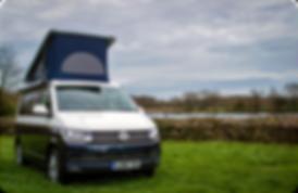 VW Campervan roof up