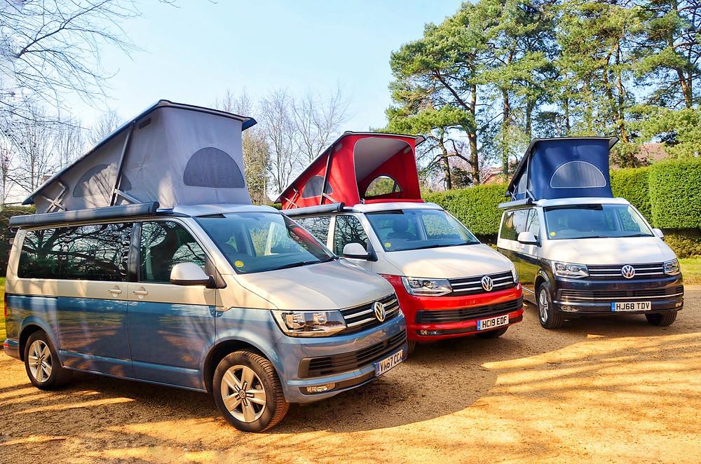 Colourful Campervans