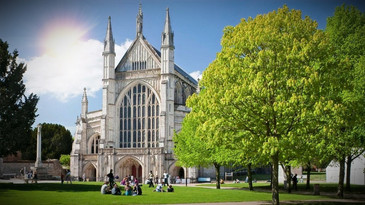 Winchester Cathedral on a summers day