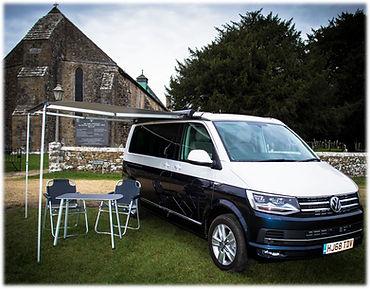 VW campervan awning extended