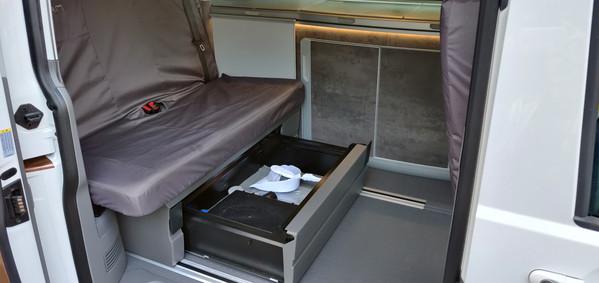 Under bench seat