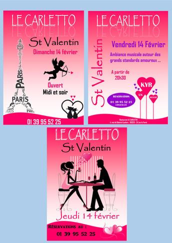 Affiches soirée St Valentin