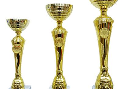 גביע מתכת פתוח זהב