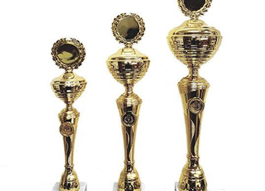 גביע מתכת סגור זהב