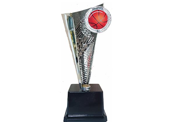 """גביע חרוט כדורסל כסף גובה 28 ס""""מ"""