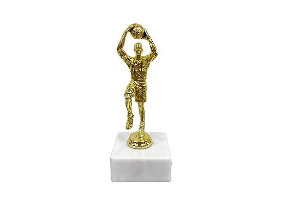 """גביע דמות כדורסל זהב גובה 25 ס""""מ"""