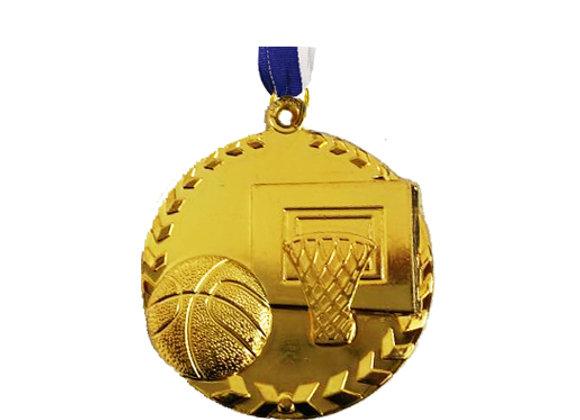 """מדליה זהב כדורסל 5 ס""""מ"""