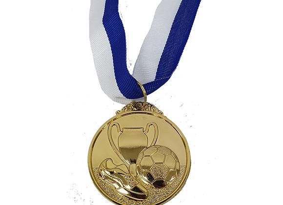 """מדליה כדורגל זהב 5 ס""""מ"""