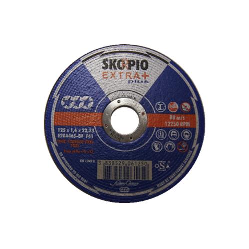 KAPPESKIVE Skorpio Extra+, 125x1,6 x22,23, 80 m/s, 12250RPM