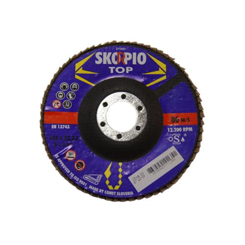 LAMELLSKIVE Skorpio Top, 125x22,23, 5x7,8``, 80 m/s , 12.200 RPM