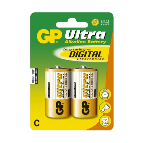 Batteri GP Ultra Alkalisk C/LR14