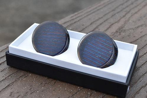 Iridescent Blue Purple Glass Plugs