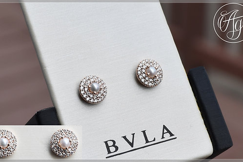 BVLA Solid Rose Gold Altura Pearl and Diamond