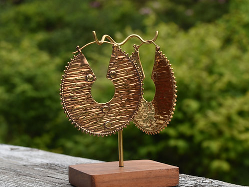 Gold Plated Afghan Plate Hoops