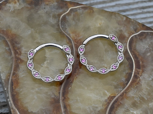 BVLA Solid White Gold Violet - 16g 3/8""