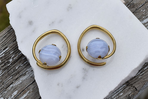 4g Blue Lace Agate Yellow Gold Weights
