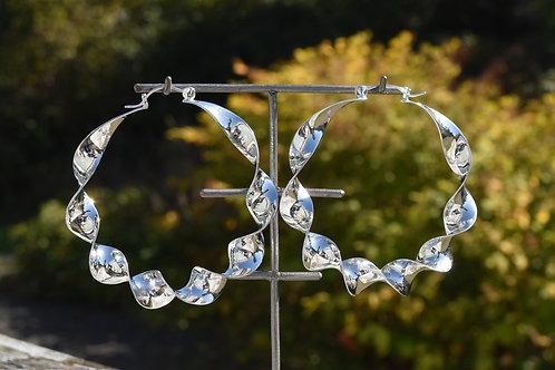 Mobius Hoops Silver
