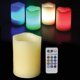 bougie LED multicolore télécommande