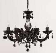 Lustre noir D40cm baroque 5 ampoules