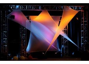 triangle voile en lycra 3x3x2m