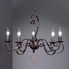 lustre rustique 5 ampoules