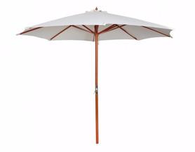 Parasol blanc en bois diam 3 m