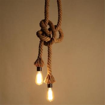 lustre corde 2 ampoules
