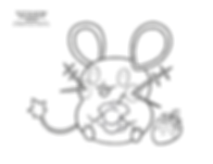 Dedenne coloring page.png