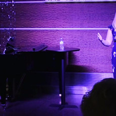 Performing a Cabaret at The Phoenix Theatre Company with the fabulous Dani Lee Hutch