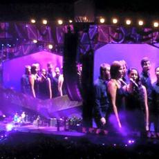 Singing behind The Rolling Stones, Heinz Stadium