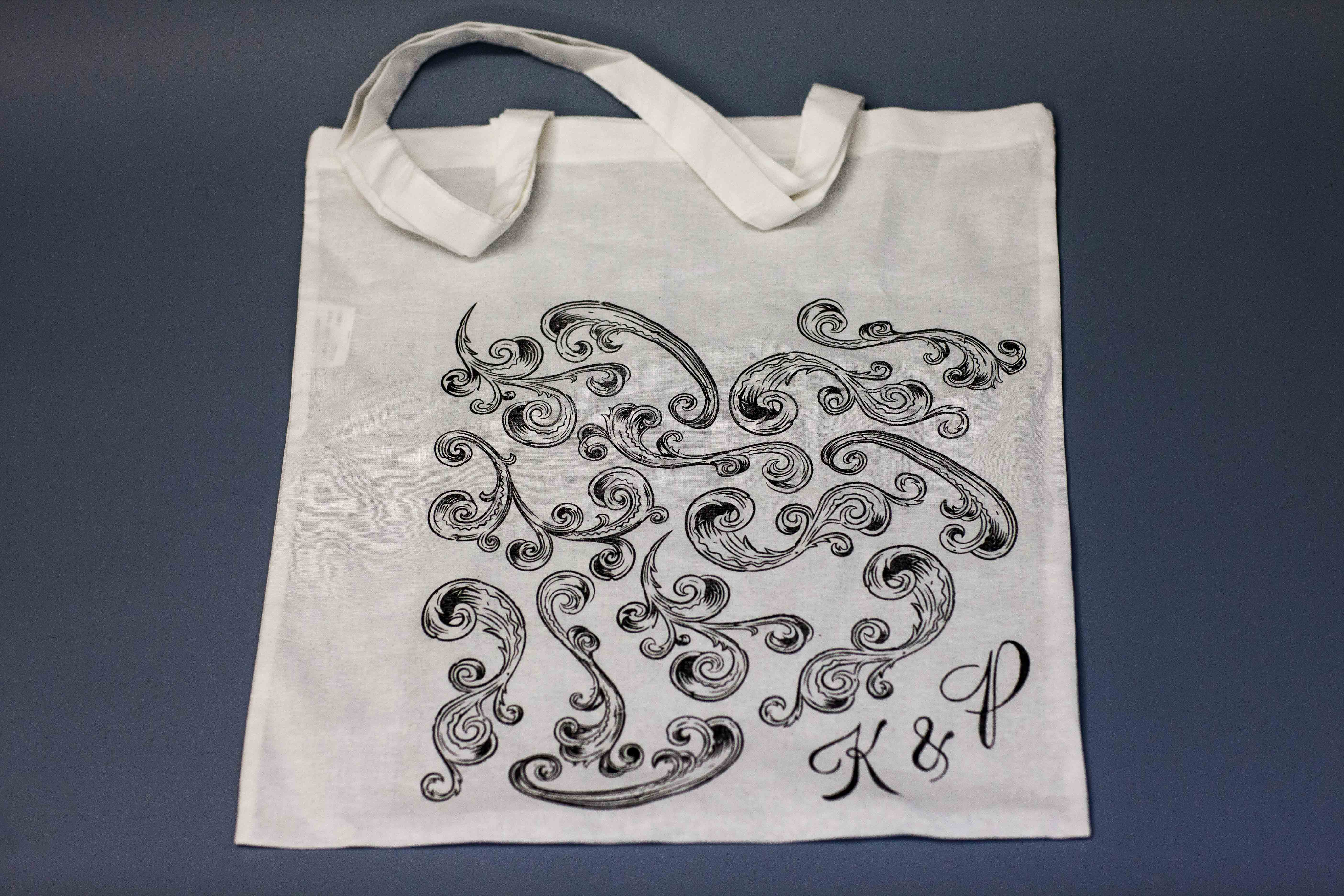 Designed and printed bag