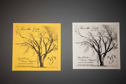 Gold and silver postcards
