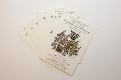 Double sided postcards on cream