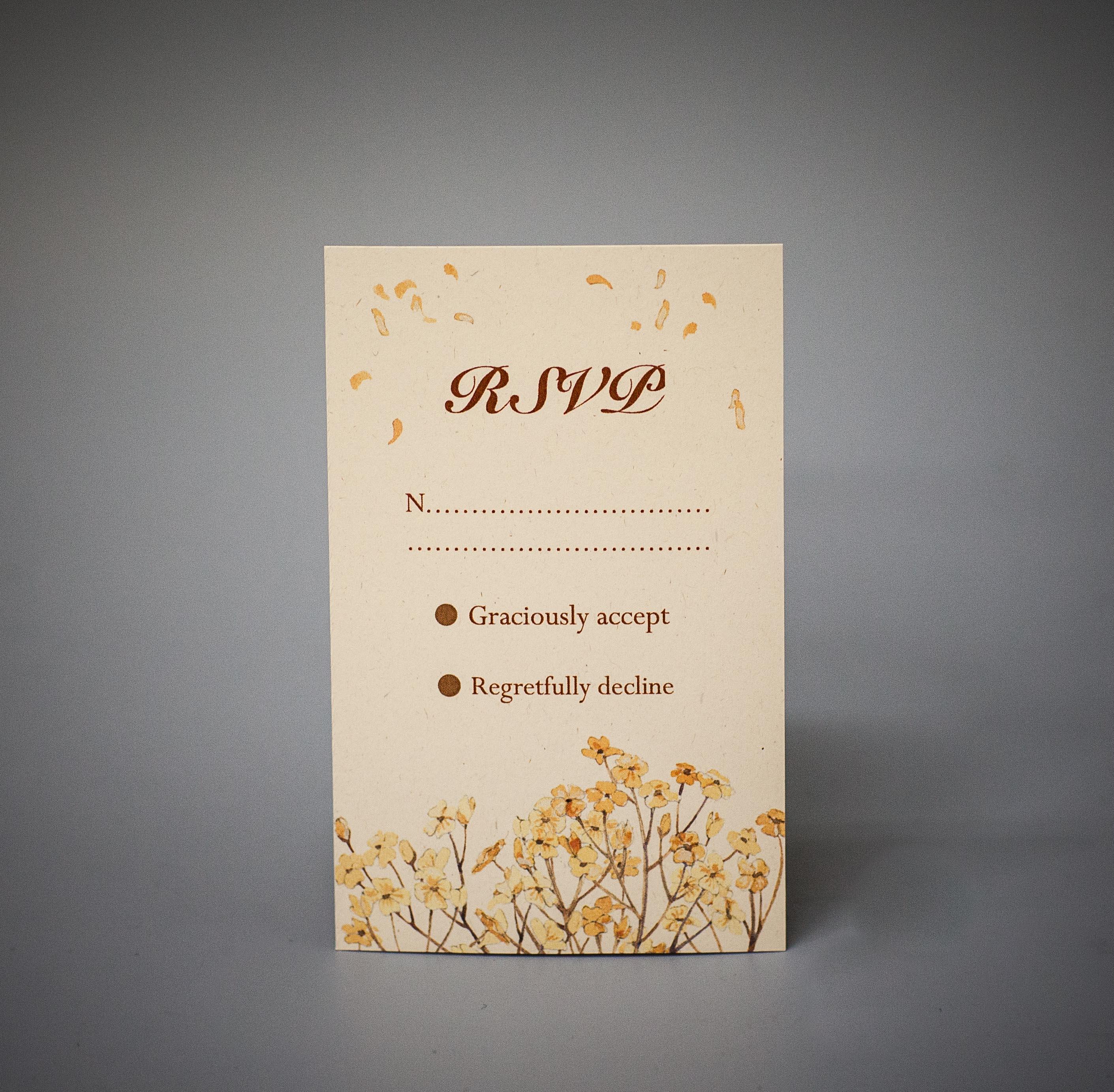 RSVP on cream paper